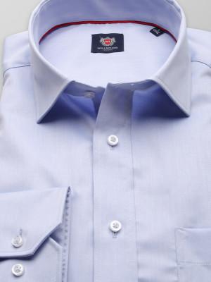Błękitna klasyczna koszula z włoskim kołnierzykiem