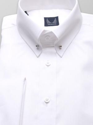 Biała klasyczna koszula z kołnierzykiem pin-collar