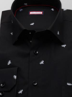 Czarna klasyczna koszula w świetliki