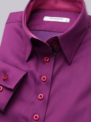 Gładka bluzka typu long size w kolorze biskupim