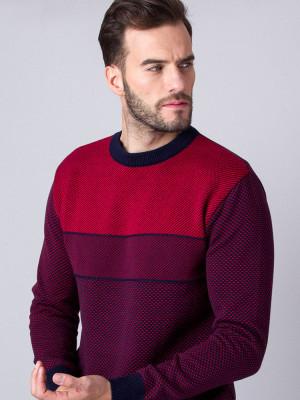Sweter w odcieniach czerwieni