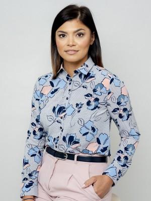 Bluzka oversize w kwieciste wzory