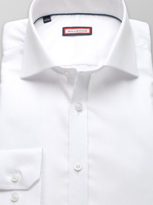 Biała koszula o mocno taliowanej sylwetce