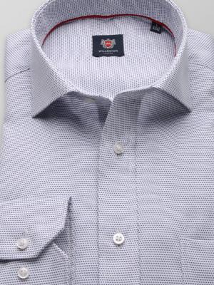 Biała klasyczna koszula w drobny wzór
