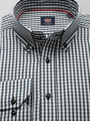 Taliowana koszula w kratkę gingham