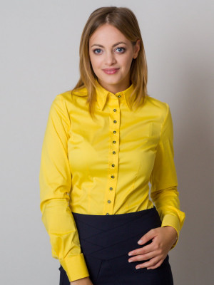 Żółta gładka bluzka
