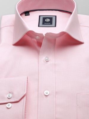 Klasyczna koszula w drobną różową pepitkę