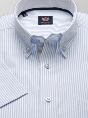 Klasyczna koszula w białe i błękitne paski