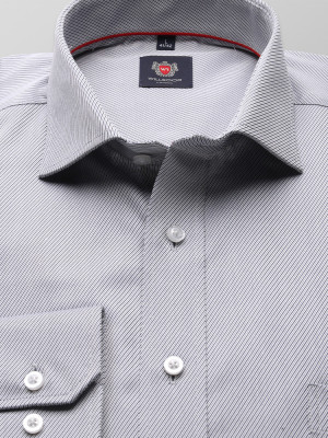 Klasyczna koszula w drobny prążek
