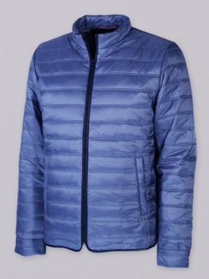 Niebieska przejściowa kurtka pikowana
