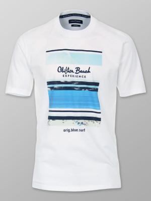 Biały t-shirt z nadrukiem CASA MODA