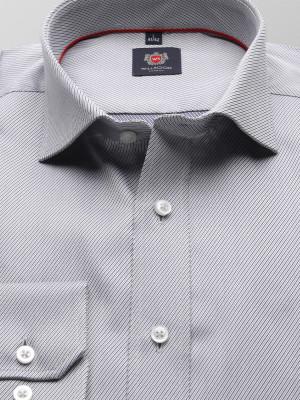 Taliowana koszula w drobny prążek