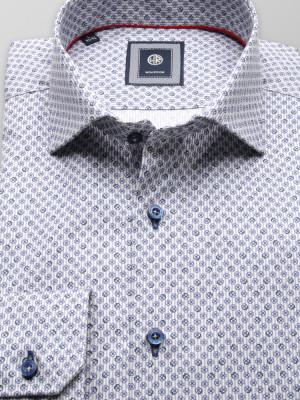 Taliowana koszula z prążek i kwiatki