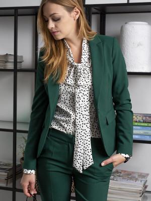 Zielony garnitur damski typu long size