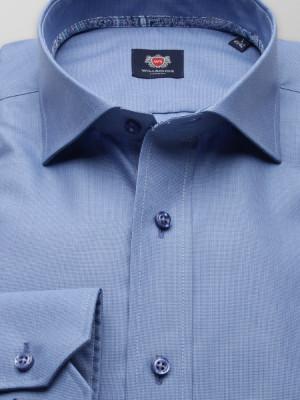 Niebieska taliowana koszula