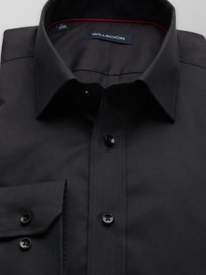 Czarna taliowana koszula