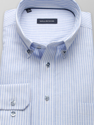 Klasyczna koszula w błękitne paski