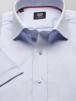 Jasnobłękitna gładka taliowana koszula