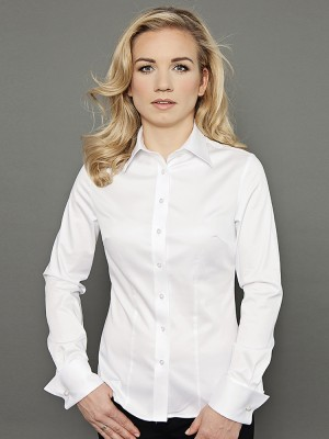 Klasyczna biała bluzka na spinki