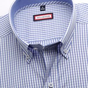 Klasyczna biała koszula w kratkę