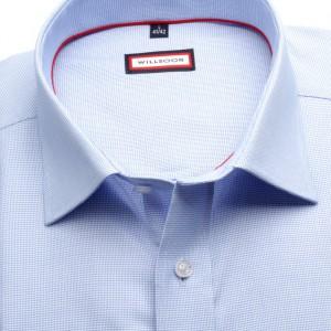 Błękitna klasyczna koszula w delikatny wzór