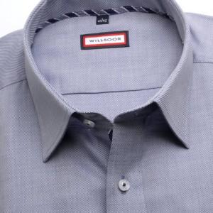 Szaroniebieska taliowana koszula w prążek