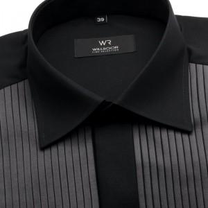 Czarna koszula smokingowa