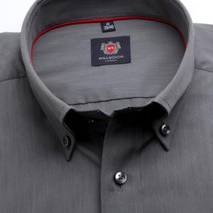 Grafitowa taliowana koszula