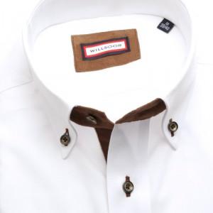 Biała klasyczna koszulaz nałokietnikami