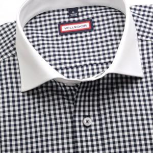 Taliowana koszula maklerska w kratkę gingham