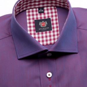 Fioletowa taliowana koszula