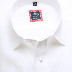 Biała lniana taliowana koszula
