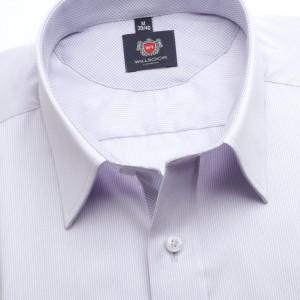 Klasyczna jasnowrzosowa koszula w prążki