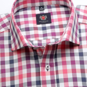 Taliowana koszula w kratę