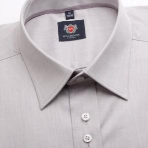 Szaro-wrzosowa taliowana koszula