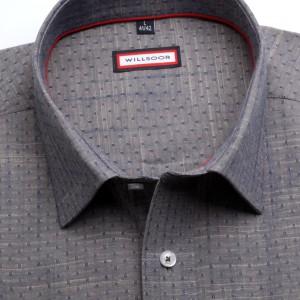 Klasyczna szara koszula w kropki