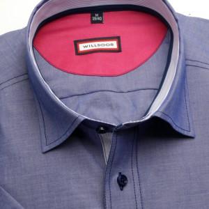 Niebieska taliowana koszula pagonem