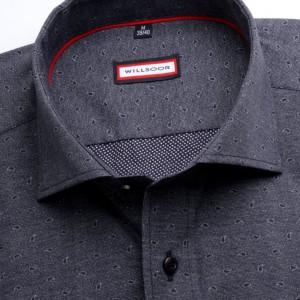 Grafitowa taliowana koszula we wzór paisley