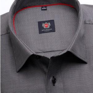Klasyczna grafitowa koszula w mikrowzór