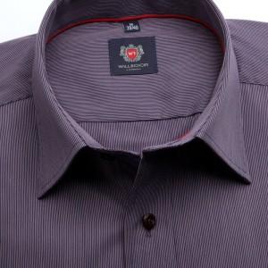 Fioletowa klasyczna koszula z prążek