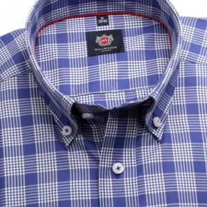 Klasyczna niebieska koszula w kratkę