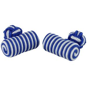 Szaro-niebieskie spinki baryłki