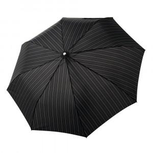 Czarny męski parasol Doppler w prążki