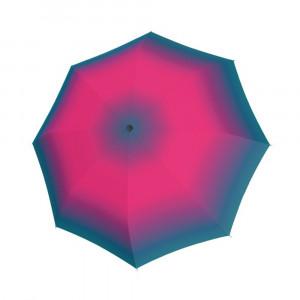 Parasol damski marki Doppler w różowy, fioletowy i niebieski gradient