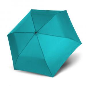Gładki parasol damski marki Doppler w morskim kolorze