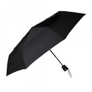 Czarny męski parasol przeciwdeszczowy z latarką