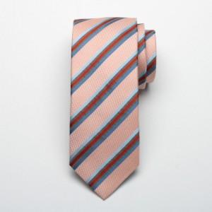Jedwabny krawat w kolorowe paski