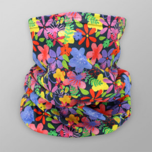 Chusta wielofunkcyjna w kolorowe kwiaty