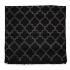 Czarny szal w orientalne wzory