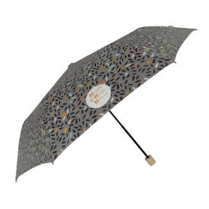 Szary parasol Perletti we wzorki